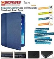 Promate Veil-Air Ultra Slim Promate Protective with Stand Function for iPad Air, Blue, Retail Box, 1 Year Warranty