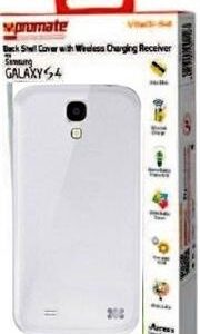 Promate Vitaqi-S4 Samsung S4 Case White Retail Box 1 Year Warranty Back Shell-cover Case with In-built Wireless Charging Receiver for Samsung Galaxy S4