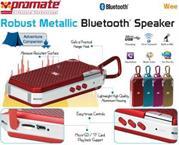 Promate Wee Robust Metallic Bluetooth Speaker – Gold, Retail Box, 1 Year Warranty