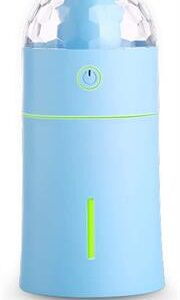 Casey Portable X7 Magic Multifunctional Portable 175ml USB Humidifier Air Purifier Mist Maker with Magical LED light For Home Office and Car-Blue Retail Box No warranty