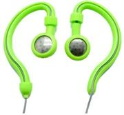 Geeko Innovate Hook On Ear Dynamic Stereo Earphones – Impedance: 32 Ohms @1KHz , Frequency Response: 20-20,000Hz , Maximum Power Input: 0.05w , Sensitivity: 105dB/mW , Jack: 3.5mm , Length of Cable: 1.2m – Green , Retail Box , 1 year Limited Warranty