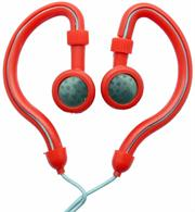 Geeko Innovate Hook On Ear Dynamic Stereo Earphones – Impedance: 32 Ohms @1KHz , Frequency Response: 20-20,000Hz , Maximum Power Input: 0.05w , Sensitivity: 105dB/mW , Jack: 3.5mm , Length of Cable: 1.2m – Red , Retail Box , 1 year Limited Warranty