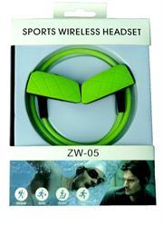 Geeko ZW-05 Sporty Wireless Bluetooth Earphones , BT4.2 , Rechargeable Polymer Lithium-on Battery -, Retail Box , 1 year Limited Warranty