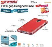 Promate Akton S5 Multi-colored flexi-grip designed Protective Shell Case for Samsung Galaxy S5 Colour:Red, Retail Box , 1 Year Warranty