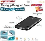 Promate Akton S5 Multi-colored flexi-grip designed Protective Shell Case for Samsung Galaxy S5 Colour:Black , Retail Box , 1 Year Warranty