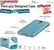 Promate Akton S5 Multi-colored flexi-grip designed Protective Shell Case for Samsung Galaxy S5 Colour:Blue, Retail Box , 1 Year Warranty