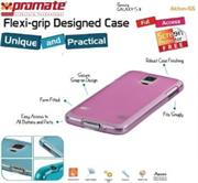 Promate Akton S5 Multi-colored flexi-grip designed Protective Shell Case for Samsung Galaxy S5 Colour:Pink, Retail Box , 1 Year Warranty