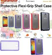 Promate Amos N3 Protective flexi-grip designed shell case for Samsung Note 3 Colour:Purple, Retail Box , 1 Year Warranty