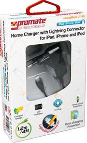 Promate Chargmate LT-EU Multifunction Lightning Home Charger For Ipad, Iphone And Ipod, Eu Standard., Retail Box, 1 Year Warranty