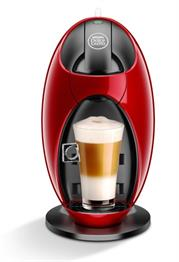 Delonghi Nescafe Dolce Gusto – Jovia Coffee Machine – Red, Professional quality system machine, Compact & manual, High pressure system up to 15 bars, Multi-beverage system, Hot & cold function, 5 Minute eco-mode feature, Descaling alert, Retail Box, 2 year warranty