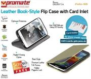 Promate Folio S5 Bookcover with inside card pocket Colour: Gold, Retail Box , 1 Year Warranty