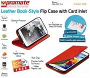 Promate Folio S5 Bookcover with inside card pocket Colour: Red, Retail Box , 1 Year Warranty