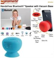 Promate Globo -2 ,Portable Bluetooth® 3.0 Speaker with suction stand Colour:Blue, Retail Box , 1 Year Warranty