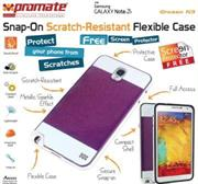 Promate Grosso-N3 ,Snap-On Scratch-Resistant Flexible Case for Samsung Galaxy Note 3 , Retail Box , 1 Year Warranty