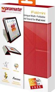 Promate iFold mini-UniQue Multi-Foldable Cover Case and Stand for iPad Mini-Maroon, Retail Box, 1 Year Warranty