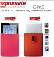 Promate iSlim.3 new iPad , iPad 2 protective easy pull shamwa leather case-Orange Retail Box 1 Year Warranty