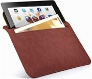 Promate iSleeve.2 iPad premium protective horizontal shamwa leather case with extra pocket,Flip cover magnetic lock for device loading security,Slim and classic horizontal cover-up,Colour:Brown , Retail Box, 1 Year Warranty