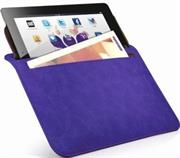 Promate iSleeve.2 iPad premium protective horizontal shamwa leather case with extra pocket,Flip cover magnetic lock for device loading security,Slim and classic horizontal cover-up,Colour:Purple, Retail Box, 1 Year Warranty