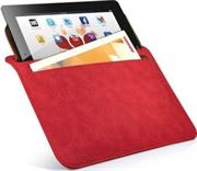 Promate iSleeve.2 iPad premium protective horizontal shamwa leather case with extra pocket,Flip cover magnetic lock for device loading security,Slim and classic horizontal cover-up,Colour:Red, Retail Box, 1 Year Warranty
