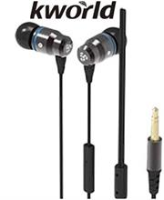 Kworld KW S23 In Ear Elite Mobile Gaming Earphones Stereo Silicone Earbuds with In-line intelligent Control Microphone , 9mm Driver Unit , Sensitivity: 100 ±3 dB/mW , 1.2 metre Soft TPE Flat Cable , 4 Pin 3.5mm Gold Plated Jack – Black, Retail Box , 1 year Limited Warranty