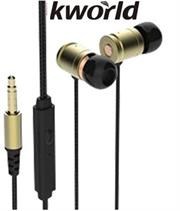 Kworld KW S25 In Ear Elite Mobile Gaming Earphones Stereo Silicone Earbuds with In-line intelligent Control Microphone , 9mm Driver Unit , Sensitivity: 98 ±3 dB/mW , 1.2 metre Braided Cable , 4 Pin 3.5mm Gold Plated Jack – Black, Retail Box , 1 year Limited Warranty