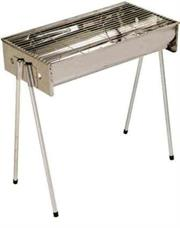 Metalix Large Stainless Steel 402 Braai stand – Portable, Easy to assemble and store, Grid size: 620mm x 320mm, Depth: 115mm, Dimensions: 51cm x 19.5cm, Retail Box, 1 year warranty