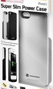 Promate PowerCasei5 iPhone 5 Slim-fit cutaway design case with in-built 2600mAh battery Colour:Silver, Retail Box , 1 Year Warranty