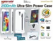 Promate Powercase S5 2100mAh Ultra-Slim Power Case For Samsung Galaxy S5 Colour: White, Retail Box , 1 Year Warranty