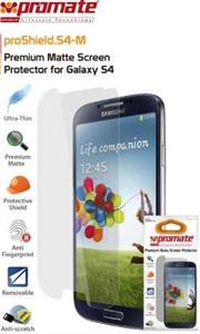 Promate Proshield.S4-M Samsung Galaxy S4 Screen Protector proShield.S4 M is a clear screen protector that gives your Samsung Galaxy SIV long-term screen premium screen protection against dust, marks, smudges and scratches. The screen finish allows superior touch-screen sensititvity and anti-glare features. Complete with cleaning cloth and installation card, the proShield.S4 M is easy to attach and remove, leaving no residue behind and without interfering with touch-screen responsiveness., Retail Box , 1 Year Warranty