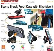 Promate Ride.i5 iPhone 5 Shock Proof rubberized case with a detachable Bike Mount Colour:Grey Shock Proof Case rubberized case with a detachable bike mount for iPhone 5/5S,Ride.i5, an iPhone 5/5s case made for outdoor adventure junkies. Ride.i5 comes with a detachable bike mount which delivers the best riding experience with your iPhone. It encases your iPhone in a hard rubberized shell protecting it from bumps and scratches. At the same time, keeping all your iPhone features fully accessible. It can also be used as a kick stand for multiple viewing angles. , Retail Box , 1 Year Warranty