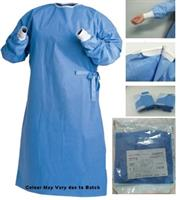 Casey Disposable SMS Fabric Reinforced Sterile and Sealed Surgical Gown-Lightweight, Durable, Breathable, SMS Polypropylene Reinforced Fabric Widely Used at Clinics, Hospitals, Examination Rooms, Operating Theatres, Effective Protection From Blood Borne Pathogens and Liquid Spills, Colour Light Blue Size Free Size Once Size Fits All, Sold as a Single Unit Retail Box No Warranty