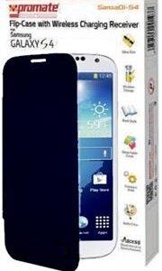 Promate SansaQi-S4 Flip-Case with Wireless Charging Receiver-Blue Retail Box 1 Year Warranty