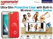 Promate selfieCase-i6 Ultra-Slim Protective case with Built-in Wireless Camera Shutter – Red, Retail Box , 1 Year Warranty