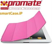 Promate SmartShell.1 Ultra-thin back contoured shell case for iPad2-Pink, Retail Box, 1 Year Warranty