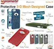 Promate Spidy.i5 Designed Promate Protective Case for iPhone 5/5S, Blue, Retail Box, 1 Year Warranty