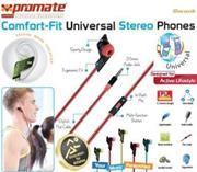 Promate Swank Comfort-Fit Universal In-Ear Headphones – Pink, Retail Box, 1 Year Warranty