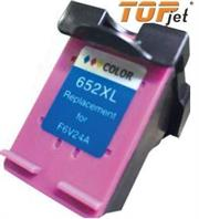 TopJet Generic Replacement Single Tri Colour Ink Advantage Cartridge for F6V24a HP652XL- Tri-Colour Single Ink Cartridge, Page Yield 200 Pages with 5% Coverage for use with HP DeskJet Ink Advantage 1115 Printer , HP DeskJet Ink Advantage All in One 2135, 3635, 3835, 4535, 4675 Printers, High Yield Colour, Retail Box, No Warranty