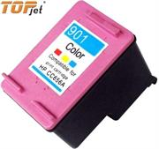 TopJet Generic Replacement Single Tri Colour Officejet Ink Cartridge CC656A for HP901XL- Tri-Colour Cyan, Magenta, Yellow, Single Ink Cartridge, Page Yield 350 Pages with 5% Coverage for use with HP Officejet 4500 Desktop All-in-One Printer (CM753A), HP Officejet 4500 All-in-One Printer (CB867A), HP Officejet 4500 Wireless All-in-One Printer (CN547A), HP Officejet J4660 All-in-One Printer (CB786A), HP Officejet J4580 All-in-One Printer (CB780A), High Yield Colour, Retail Box, No Warranty