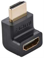 uGreen Version 2 HDMI Male To Female 90 Degree Up Adapter , Colour Black ,Retail Box, Limited 1 Year Warranty