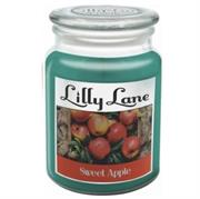 Lilly Lane Sweet Apple Scented Candle Large Lidded Mason Glass Jar – Wax Capacity 510grams, Burn Time Up to 75 Hours, High Quality Premium paraffin wax, Natural Material Wick , 100% recyclable, Large Lidded Mason Glass Jar Retail Box No warranty