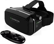 Geeko VR-Box /Shinecon Virtual Reality 3D Headset Glasses with Bluetooth Remote Controller – Supported: Android & iOS smartphone, Screen size from 4.5inch to 6.0 inch , HD Optical Resin Lens , Diameter: 42mm , FOV 70-90 Degrees for immersive 3D Experience, IPD: 58mm ~ 72mm , 360 Degree viewing and motion for full immersion, Retail Box , 1 year Limited Warranty