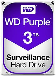 Western Digital Purple (WD30PURZ) – 3.0TB 3.5″ SATA3 6.0Gbps Surveillance HDD, Intellipower™ Speed Management, 64MB Cache, 150MB/s Host to/from (Sustained), AllFrame, HD Video Optimised, , 2 year warranty